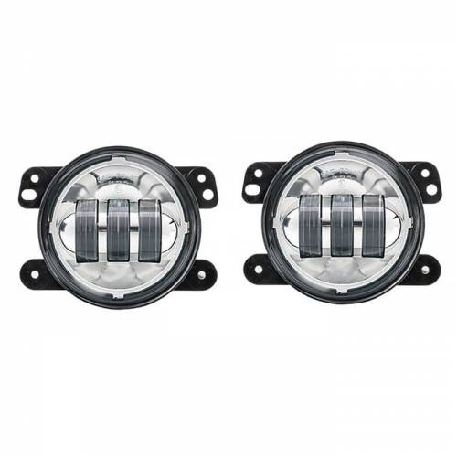 LUMA LEDS - Jeep JK LED Fog Light Kit - Chrome - Image 1