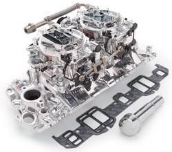 Edelbrock - Edelbrock 20674 RPM Air-Gap Dual-Quad Intake Manifold/Carburetor Kit - Image 1