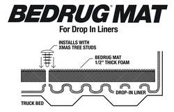 BedRug - BedRug BMQ04LBD BedRug Floor Truck Bed Mat